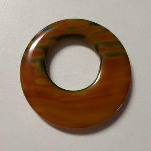 HALLOWEEN SALE - Polished Stone Pendant